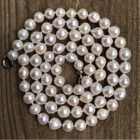 Z4516 Freshwater Pearl Necklace,Pearl Necklace,Long pearl Necklace,white pearl