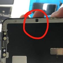 100 adet siyah etiket telefonu X Xs Xs max LCD ekran Sticker Flex kablo yapıştırıcı tutkal