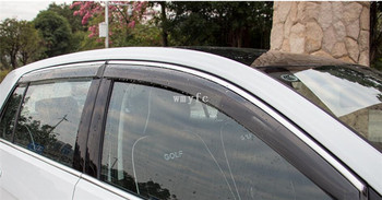 Protectores De Lluvia De La Ventana | Sun Lluvia Deflector Para VW GOLF 7 MK7 2014, 2015, 2016, 2017 Ventana Visor De Ventilación Tonos Toldos Estilo De Coche Accesorios 4 Piezas