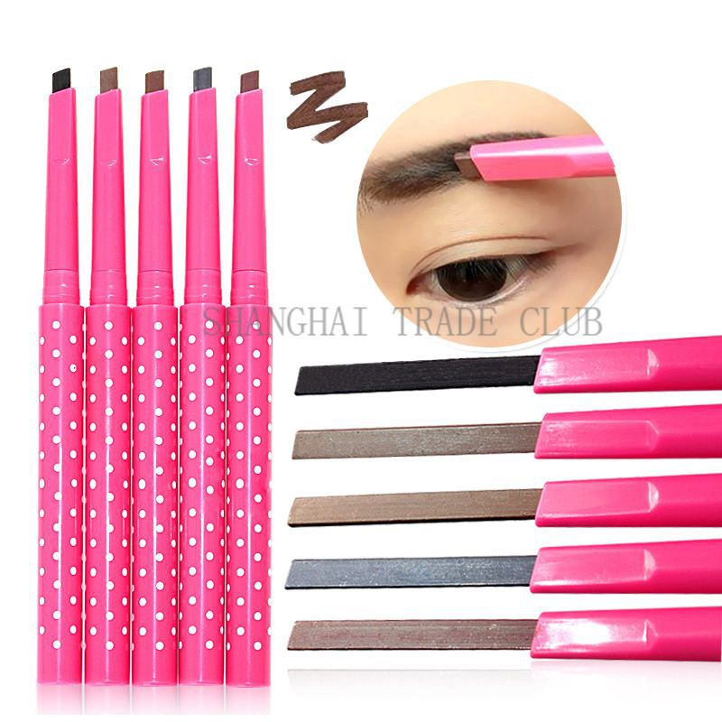 LEARNEVER 1pc New Waterproof Dark Brown Eyebrow Pencil Eye Brow Liner Powder Shapper Makeup Tool M01192