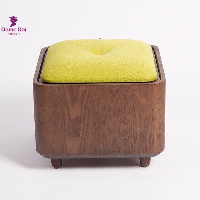Online Shop Wooden Organizer Storage Stool Ottoman Bench Footrest ...