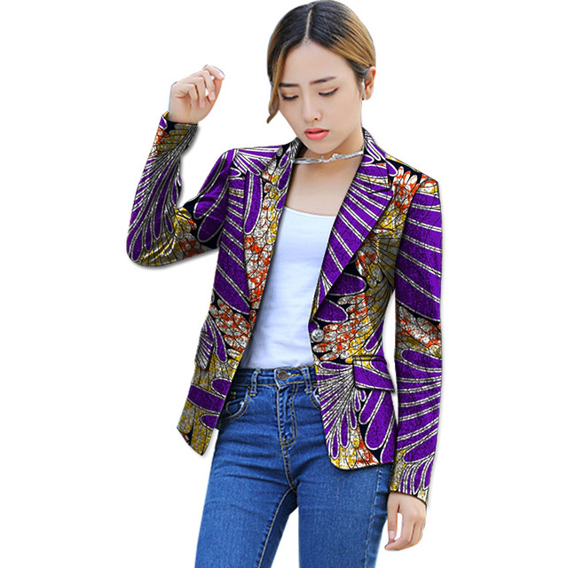 African Print Women Suit Jacket Fashion Africa Festive Ladies Blazers Coat Tailored Party ...