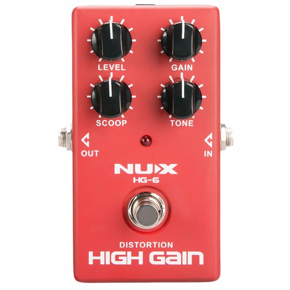 buy nux hg 6 distortion high gain electric guitar effect pedal heavy metal rock. Black Bedroom Furniture Sets. Home Design Ideas