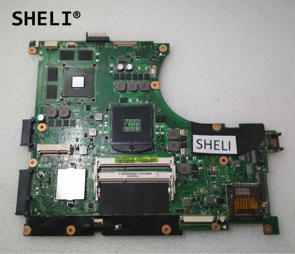 SHELI For ASUS N56VM N56V Motherboard with GT630M REV 2.2 60-N9JMB1301-E02 69N0M3M13E02P n56vm rev 2 3 laptop motherboard suitable for asus n56vm n56vj n56vz gt630m hm76 system motherboard original new