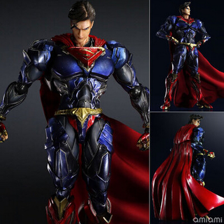 2016 NEW hot 28cm Justice league superman Enhanced version action figure toys collection christmas toy doll with box new hot 14cm one piece big mom charlotte pudding action figure toys christmas gift toy doll with box