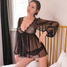 cb5576a046a Sexy Night Dress Hot Erotic Lingerie Transparent Women Nighty for Sex Sexy  Babydoll Honeymoon Nightgown Kawaii