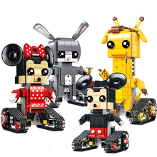 technic rc Cartoon Robot Model sports Set Remote Control Doll Building Blocks Bricks child