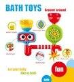 2016 Novos brinquedos Piscina Brinquedos do Banho de água Brinquedos para o banho para o banheiro Spray de Transformar Refinamento Coloridos brinquedos de Banho para crianças Crianças banhar