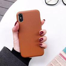 Купить с кэшбэком Imitation Leather Ultra-Thin Mobile Phone Case For Iphone XMAX Case Fashion Style For Iphone X XR XS Iphone6 6S 7 7P 8 8Plus