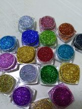 18Pots LOT Holographic Glitter Ultra Fine .008, resin supplies, rainbow glitter, loose glitter, nail glitters, 5g/pot LB100-789(China)