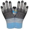 Corte Resistentes Luvas de Trabalho Luvas de 2 Pares de Aço Inoxidável com Fibra de Aramida HPPE Anti Corte Luva de Segurança Luva de Trabalho