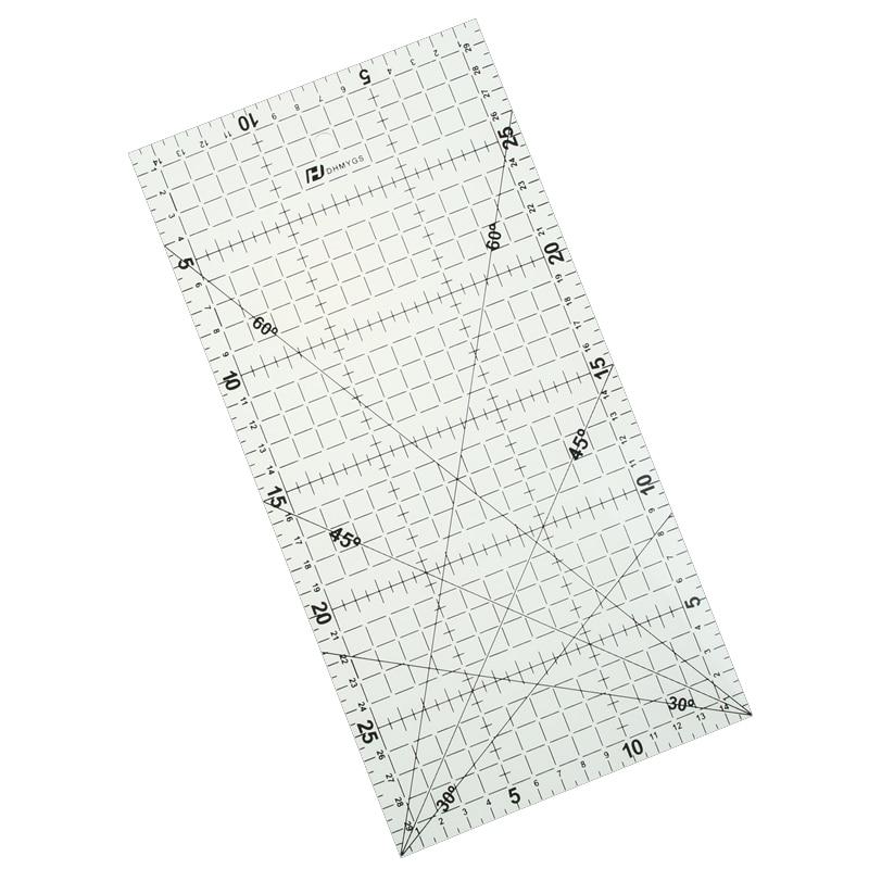 1 PCS 30 * 15 Cm Patchwork Ruler Black High-grade Acrylic Material Transparent Ruler Scale 1 pc 30 15 cm patchwork ruler quilting tools high grade acrylic material transparent ruler scale school supplie