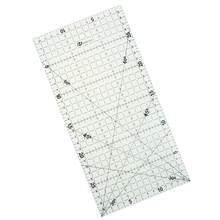 Free Shipping 1pcs 30 * 15 Cm Patchwork Ruler Black High-grade Acrylic Material Transparent Ruler Scale