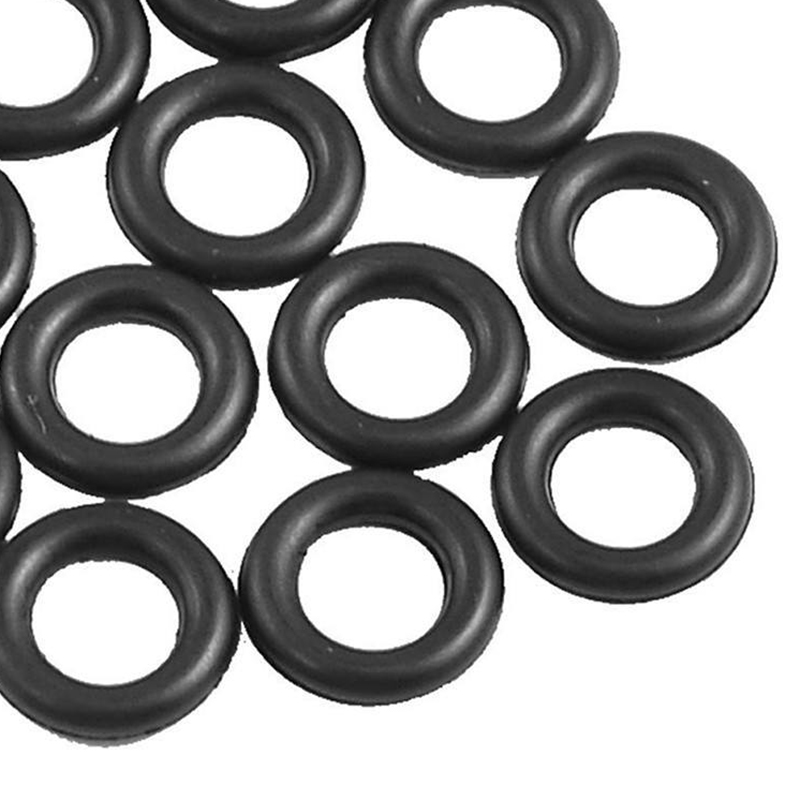 Wacky O-Rings Rubber Indicator Black Fishing Tool for Bait Lures Connector 5-7mm Connecting