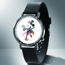 New fashion cool mickey cartoon watch for children girls Leather digital watches for kids boys Christmas gift wristwatch