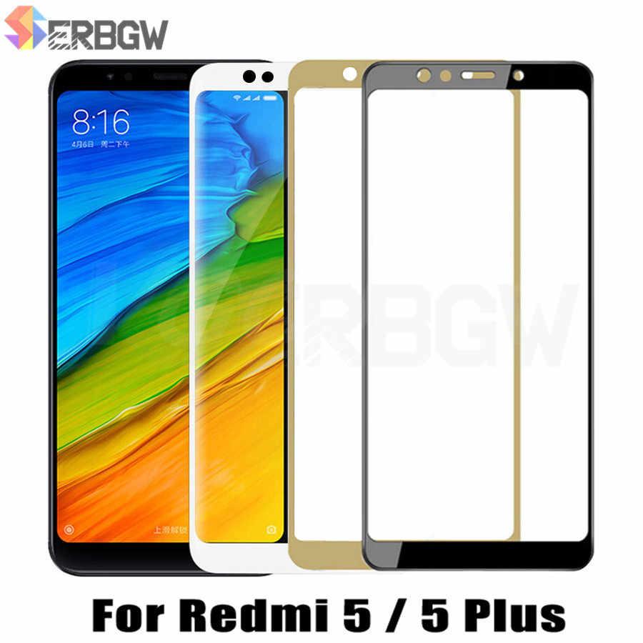 9 H Tempered Kaca Pelindung untuk Xiaomi Redmi 5 Plus Penutup Penuh Screen Protector untuk Redmi5 Plus Redmi5Plus Safety kaca Film