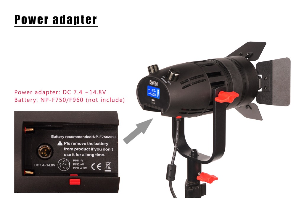 Image 4 - 1 Pc CAME TV Boltzen 30w Fresnel Fanless Focusable Led Daylight-in Photo Studio Accessories from Consumer Electronics