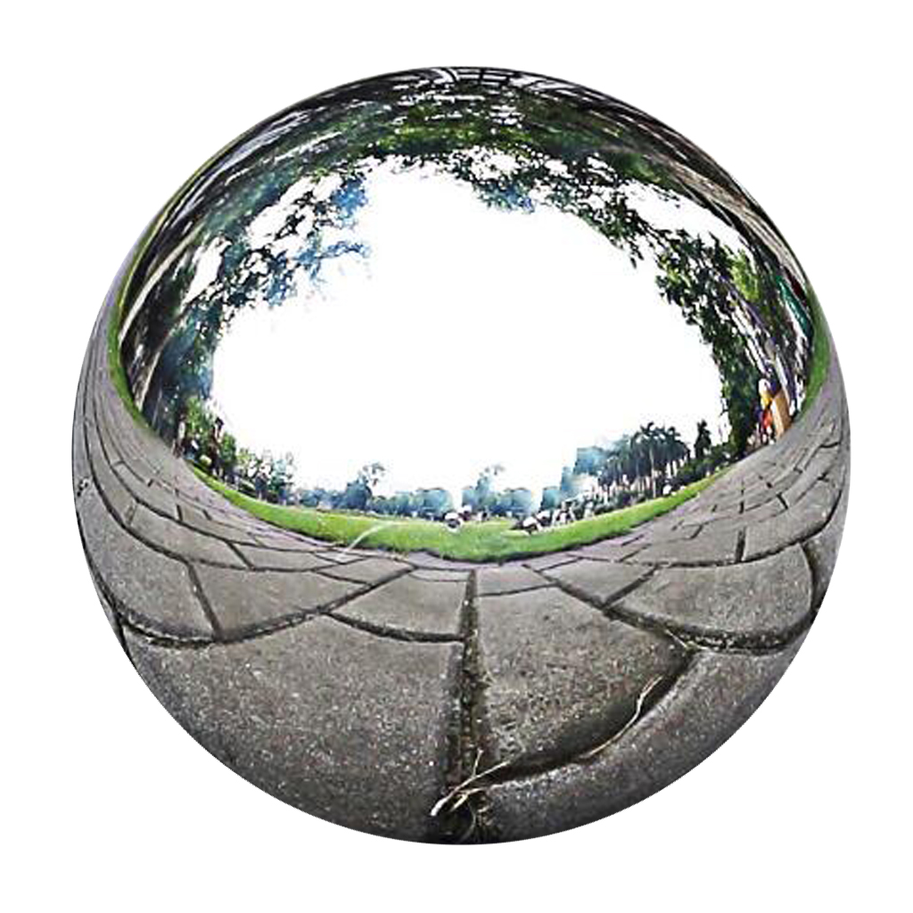 Stainless Steel Mirror Polished Sphere Hollow Round Ball Outdoor Garden Ornaments Garden Statues