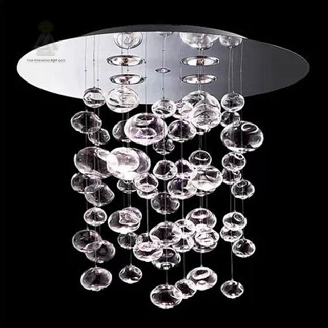 Bubble Chandelier Modern Led Glass Ball For Living Dining Room Restaurant Hanging Lamp Bedroom Droplight Hotel