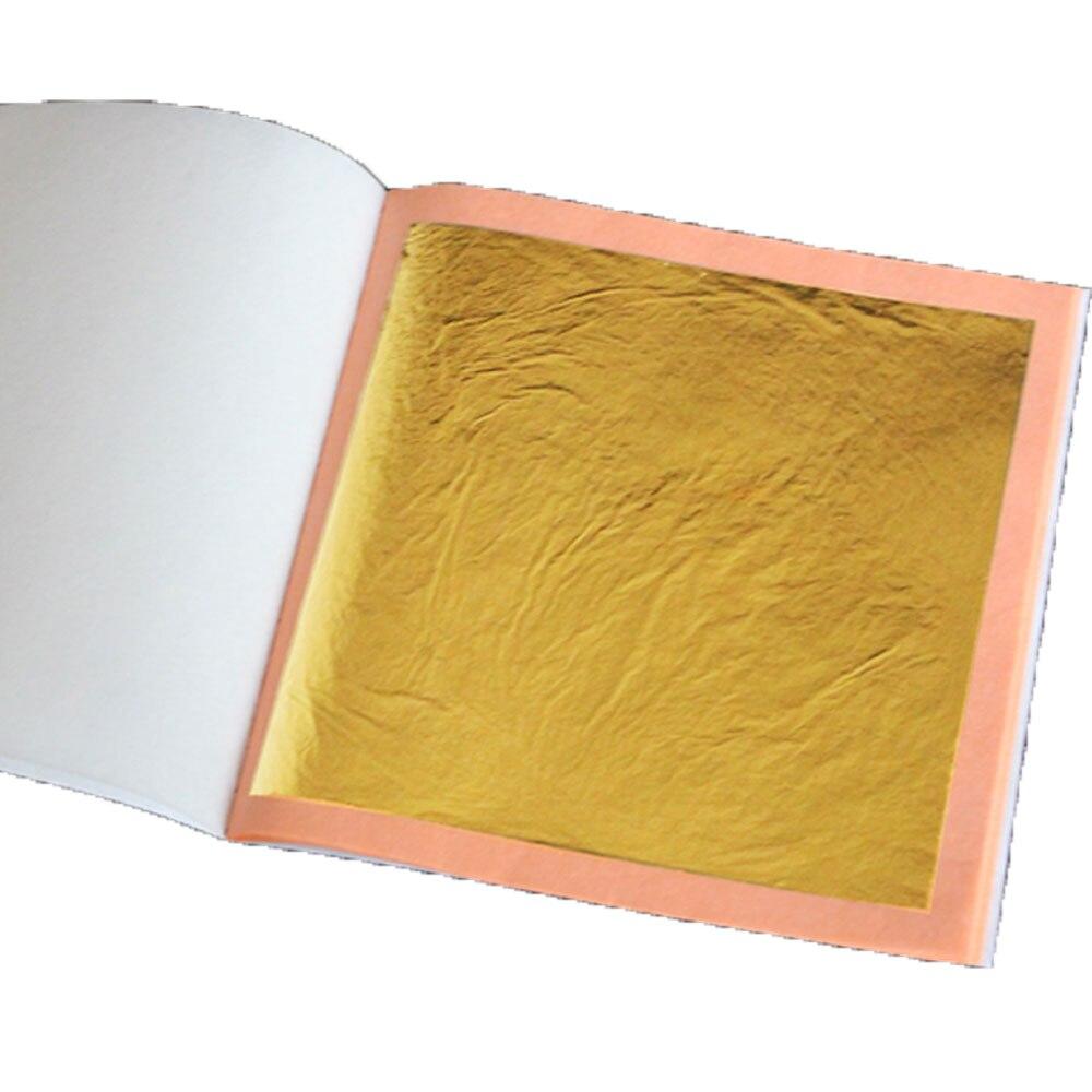 2 booklets size 8x8cm 25pcs booklet 24K real gold leaf gilding foil 99 99 gold gilding