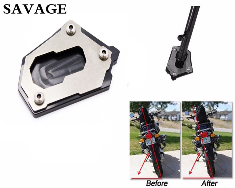 Aluminum Large Sidestand Foot Kickstand Extension Plate For B M W R 1200GS LC 2013-2016 R1200GS LC Adventure 2015-2016