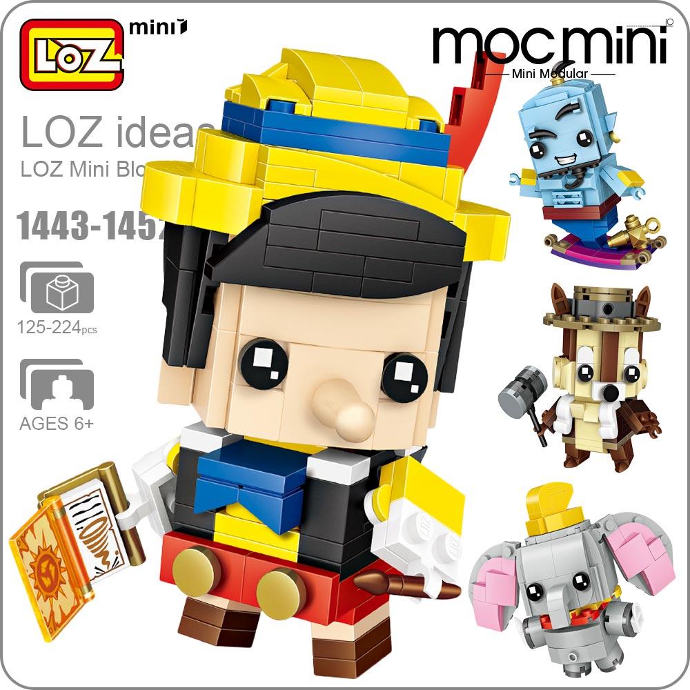 LOZ Mini font b Blocks b font Figure Cartoon Squirrel Mermaid Bear Princess Robot Cowboy Elephant