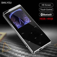 Di lusso del Metallo MP4 Lettore Bluetooth Lettore Portatile Sottile MP3 MP4 Media 2.4 pollici Chiave di Tocco di FM Radio 16 GB/ 40GB Giocatore di Musica del Regalo