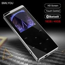 Luxe Metalen MP4 Speler Bluetooth Speler Draagbare Slanke MP3 MP4 Media 2.4 Inch Touch Key Fm Radio 16 Gb/ 40 Gb Muziekspeler Gift