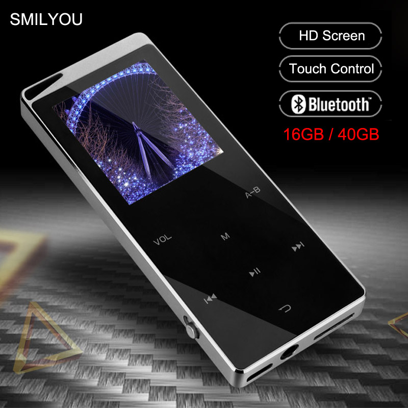 Luxury Metal MP4 Player Bluetooth Player Portable Slim MP3 MP4 Media 2.4 inch Touch Key FM Radio 16GB / 40GB Music Player Gift