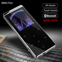 Luxury Metal MP4 Player Bluetooth Player Portable Slim MP3 MP4 Media 2.4 inch Touch Key FM Radio 16GB / 40GB Music Player Gift стоимость