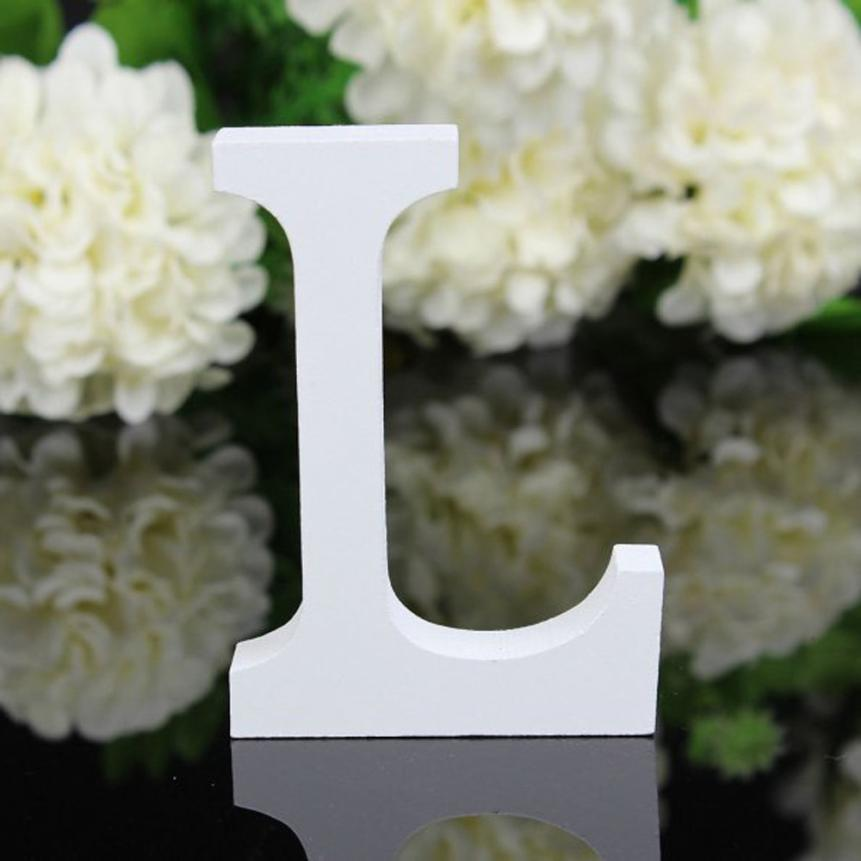 Home-Decorations Letters Wooden Birthday-Party Wedding 1piece Alphabet 17SEP18 White