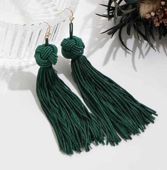 Vintage Ethnic Long Tassel Drop Earrings for Women Lady Fashion Bohemian Statement Fringe Dangle Women Earring 2019 Jewelry