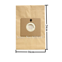 10 unids/lote piezas de limpiador al vacío papel bolsas de polvo filtro bolsa reemplazo para Nilfisk Coupe Neo Bravo P12, etc.