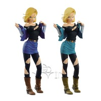 Original Dragon Ball Z DBZ Glitter GG Android NO 18 PVC Figures Model Dolls Toys Collection