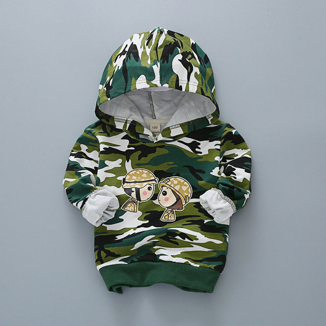 Детский свитер мальчик девочка камуфляж крышки без подкладки верхней одежды толстовки с капюшоном свитер мальчик WER01