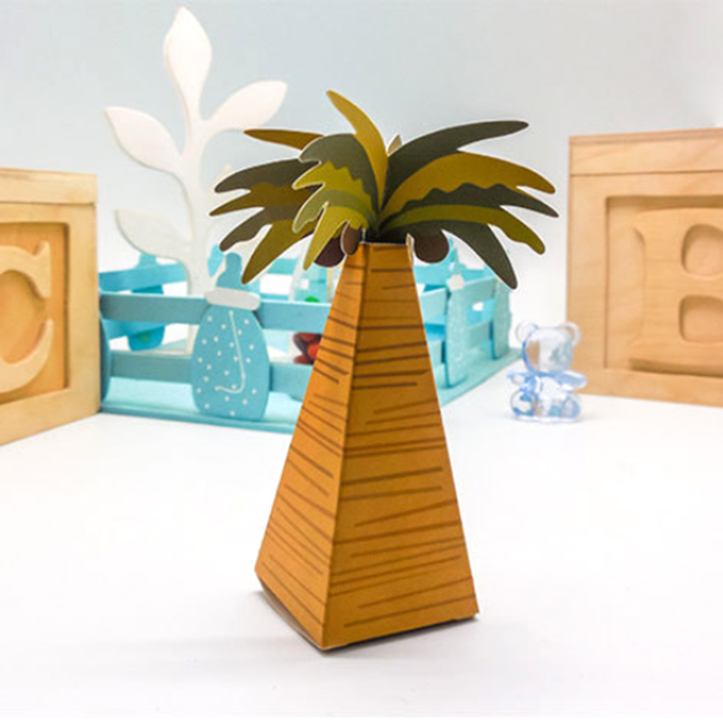 Coconut trees wedding boxes gift box for candy christmas for Application box decoration