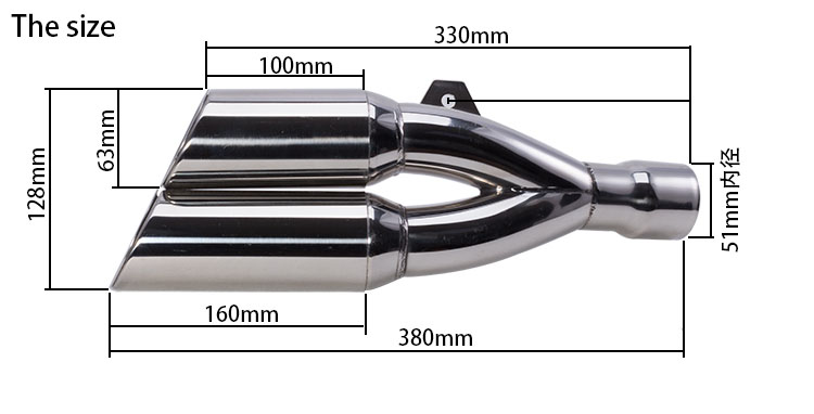Stainelss Steel Motorcycle Exhaust Muffler With Moveable DB Killer For CB400 600 CBR600 1000 YZF FZ400 YZF600 BN600 M1018