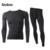 Hombres fleece thermal underwear set 2016 superficie tecnología fuerza elástica calzoncillos largos de invierno cálido traje de invierno al aire libre