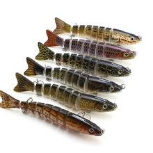14cm 3D Eyes Lifelike Fishing Lure With Treble Hooks 8 Jointed Sections Swimbait Hard Bait Isca Artificial Lures Fishing Tackle