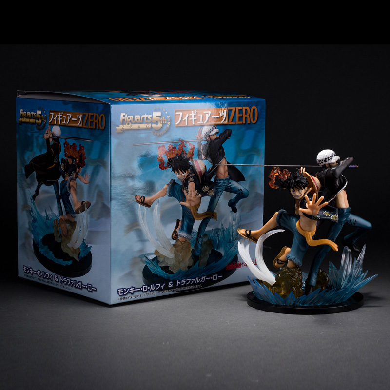 Anime One Piece Luffy & Trafalgar Law Action Figure Collection Model Toy 18cm Retail Boxed