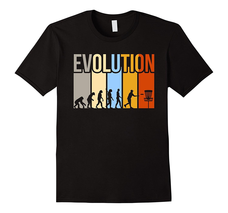 2018 New Hot Sale Men T-shirt Vintage Disc Golfs Evolution T-shirt