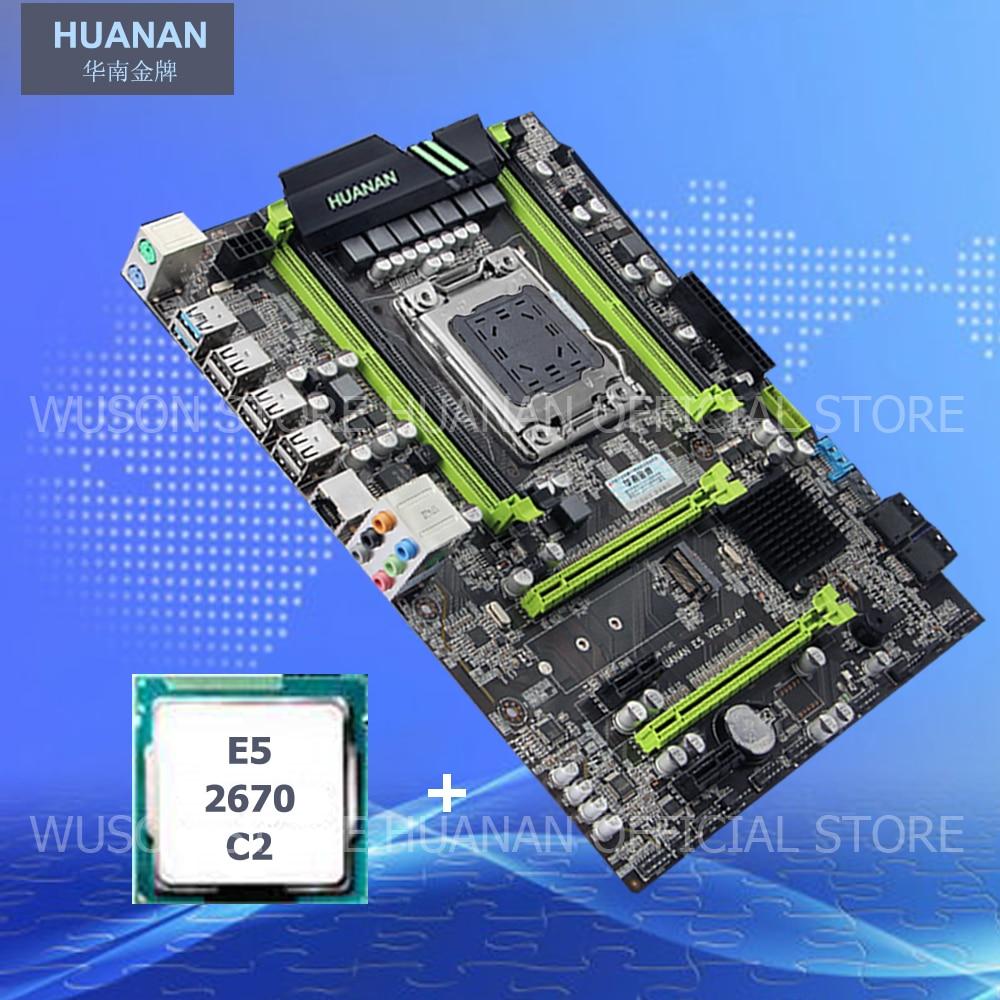 HUANAN X79 motherboard CPU set X79 V2.49 motherboard CPU Xeon E5 2670 C2 PCI-E NVME M.2 SSD port USB3.0 RAM 4 channels tested