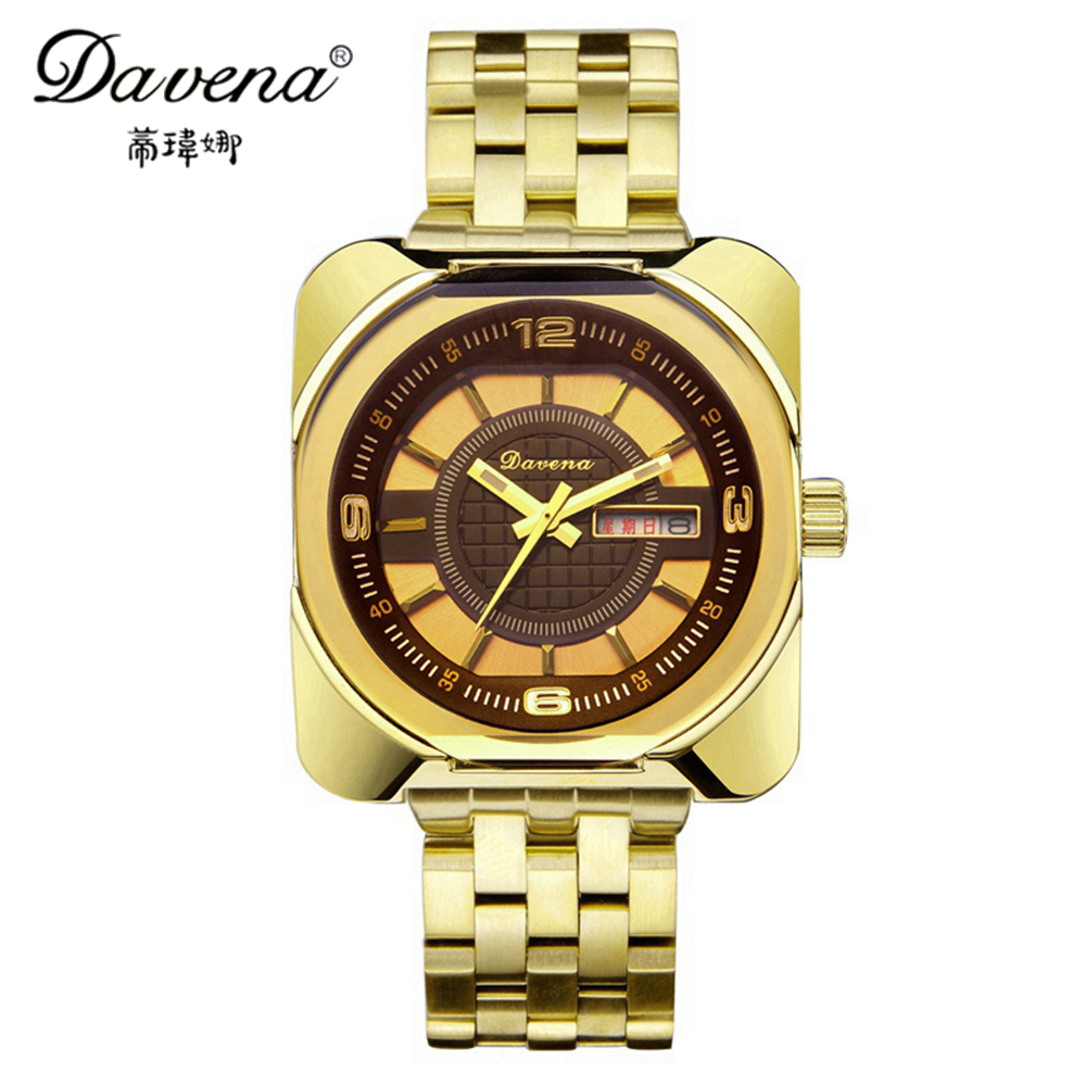 Full Steel Calendar Luminous Wristwatch Women Dress Luxury Watches Ladies Fashion Casual Quartz Watch Brand Davena 60386 Clock keep in touch couple watches for lovers luminous luxury quartz men and women lover watch fashion calendar dress wristwatches