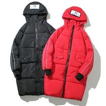 2019 Fashion Winter Jacket Men Hooded Thicken Warm Long Parka Winter Coat Casual Loose Mens Overcoat Cotton Padded Jacket 5XL цена в Москве и Питере