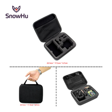 SnowHu for gopro accessories EVA Medium size Travel Storage collection bag Case for Go Pro Hero 5 4 3+ xiaomi yi 4K sjcam GP102 все цены