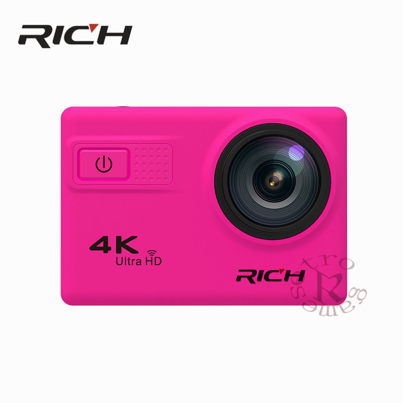 RICH F68B Action Camera 4K Wifi 2.0LCD Action Cam UHD Waterproof Sport Outdoor Video Camera 12MP 170 Degree Mini DV Camcorder 4k 30fps action camera wifi 1080p uhd 2 0 lcd screen 30m waterproof diving 170 degree sport action camera dv camera