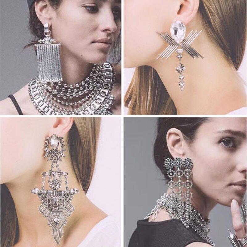 Vintage Drop Earrings Water Drop Earings Fashion Long Earrings For Women Gift Red Dangle blue Earring Trendy brincos jewelry
