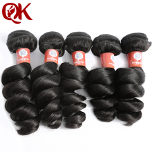 QueenKing Hair Brazilian Loose Wave Remy Hair Bundles 12-26 inches Natural Color 100% Human Hair Weaving Free Shipping