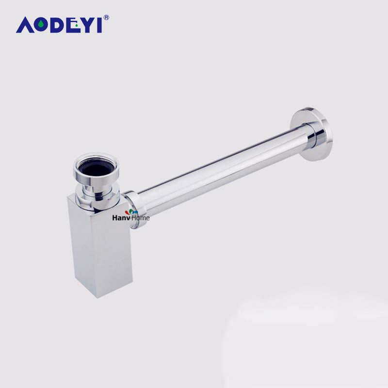 AODEYI Brass Stainless Steel Square Pop-Up Basin Waste Drain Basin Mixer P-Trap Waste Pipe Into Wall Drainage Tube-Siphon Drain dr eckart von hirschhausen baden baden