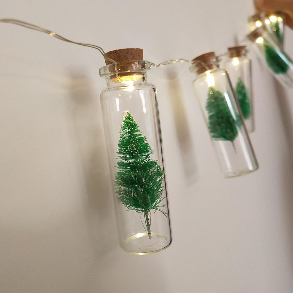 Bottles with a Christmas Tree - 10 LED lights per string